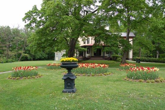 โพห์คีปซี, นิวยอร์ก: Locust Grove's historic gardens surround the historic mansion.