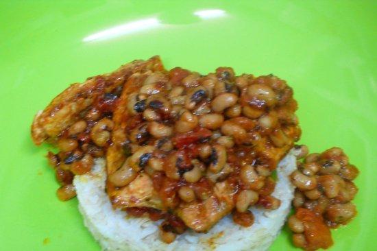 Renee's Kitchen: fish with blackeyedd peas