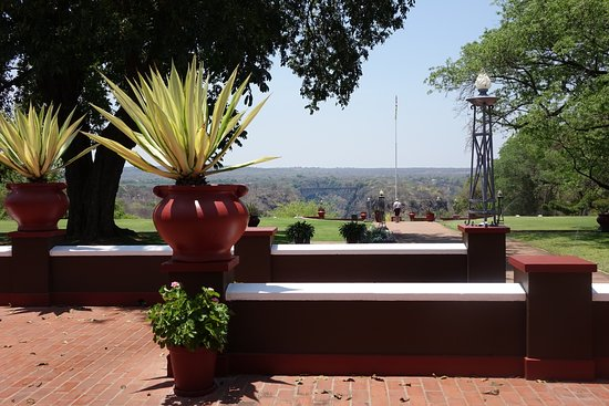 The Victoria Falls Hotel: View from the terrace