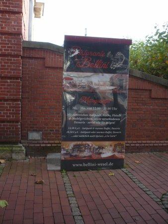 Info vom Restaurant Bellini, am Berliner Tor.