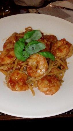 Naturno, Italy: Spaghetti mit Scampi (auf persönlichen Wunsch zubereitet)