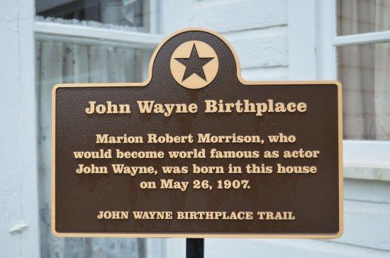 John Wayne Birthplace & Museum: John Wayne birthplace