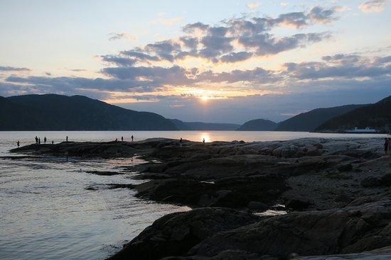 Sentier de la Pointe-de-l'Islet Trail : Puesta de sol