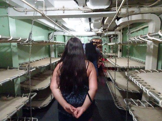 USS LST Ship Memorial: sleeping quarters