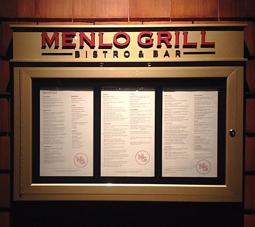 Menlo Grill Bistro and Bar: Welcome...