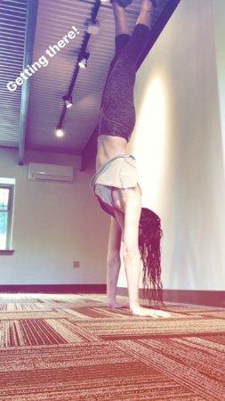 Waterbury Center, VT: Owner Heather working on balance.