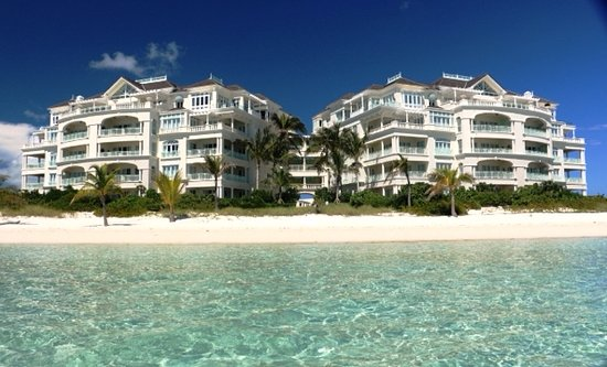 Long Bay Beach, Providenciales: View of The Shore Club from the water