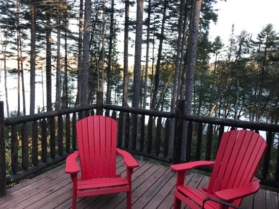 Greenville, ME: spacious deck at Loon Lake