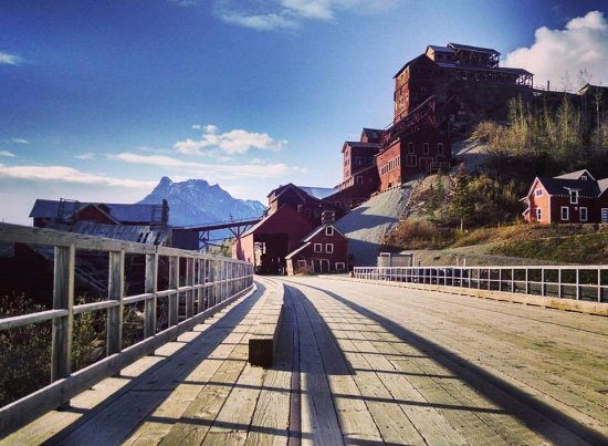 Kennicott, AK: Mill Building 100 yards from our door