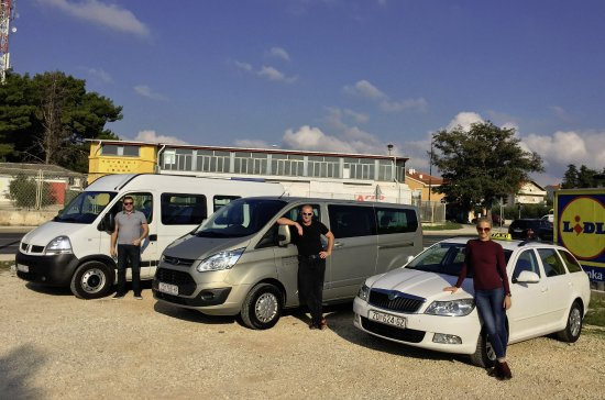 Zadar, Croatia: Our drivers, car, shuttle and minibus we use for daily tours to National Parks or airport transf