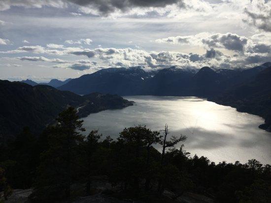 Squamish, แคนาดา: Vue du premier pic