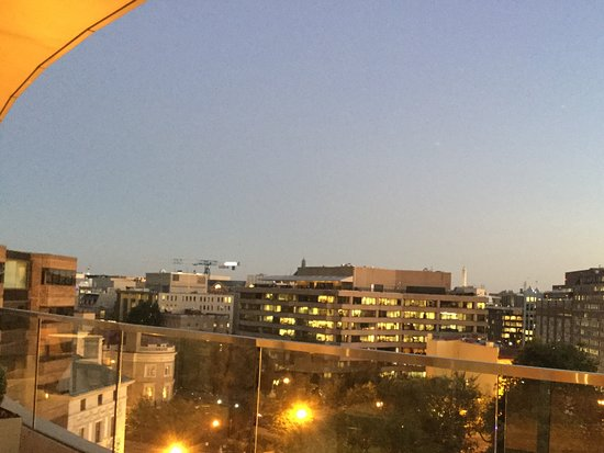 The Dupont Circle: View from the balcony on level 9