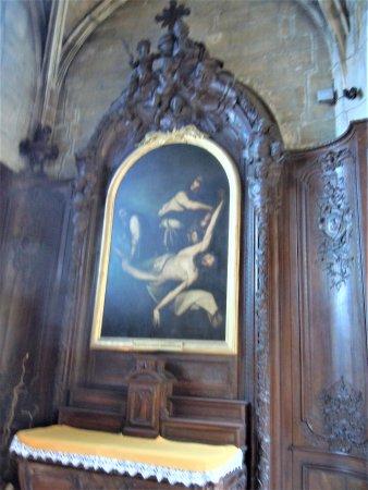 Retable avec tableau de peinture - Picture of Collegiale ...