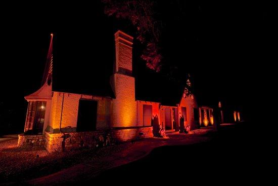 Las Vegas, Nuevo Mexico: Side View of Museum at Night