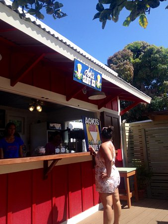 Aoki's Shave Ice: The newly reopened Aokis Shave ice stand.