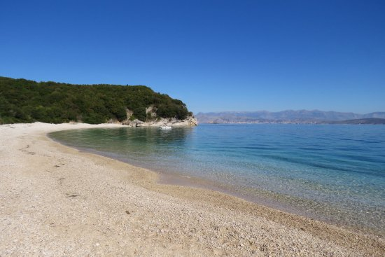 Dassia, Grecia: Secluded beach for lunch!