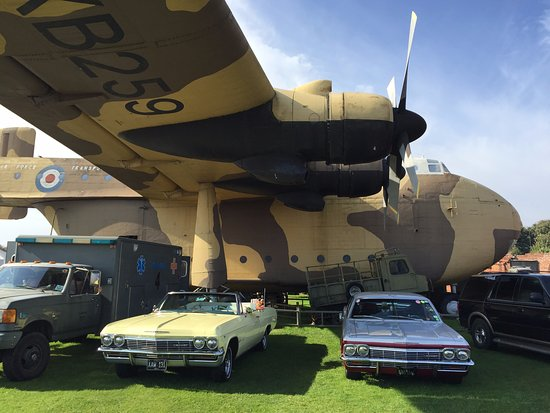 Fort Paull: We visited on an American car show day.