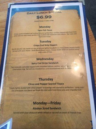 Jeffersonville, IN: Lunch menu.