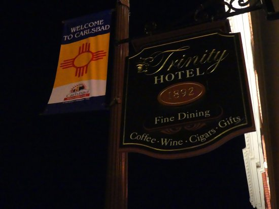 The Trinity Hotel Restaurant: sign outside