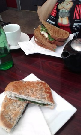 Crows Nest, Australien: Sandwiches and drinks