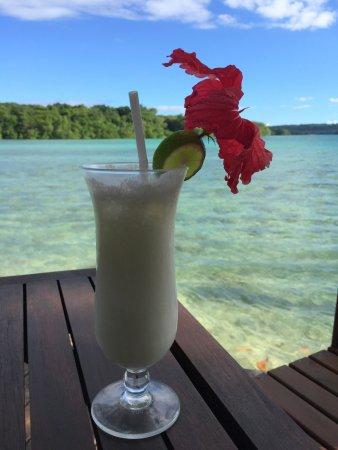 Port Havannah, Vanuatu: Pina Colada at Wahoo Bar Havannah Harbour Vanuatu