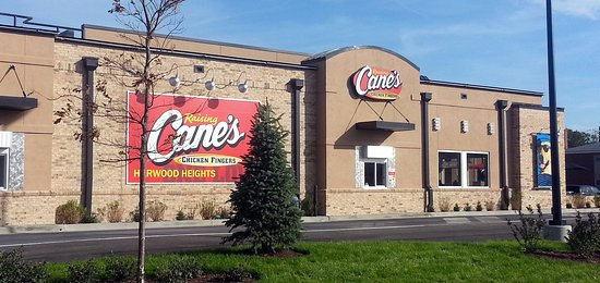 Harwood Heights, IL: drive-thru side for Raising Cane's Chicken Fingers