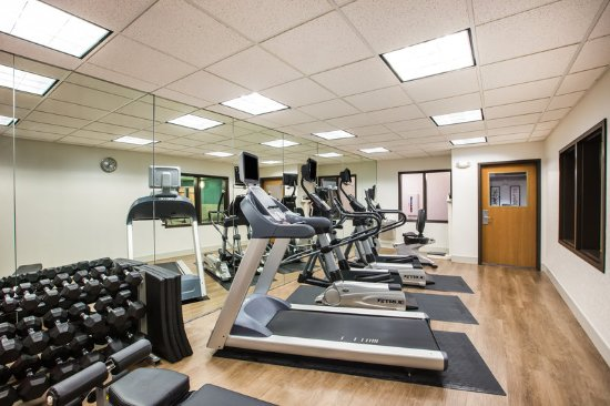 Bellevue, NE: Our Fitness Center includes cardio equipment and free weights.