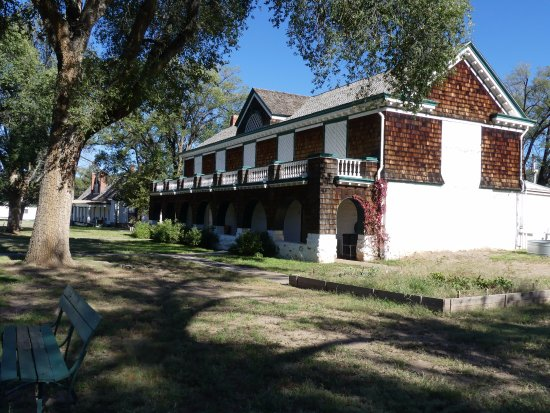 Fort Stanton Historical Site: one of the officers quarters around the parade ground