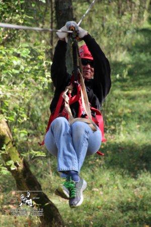 Rockbridge, OH: Claudia enjoying the Original Canopy Tour