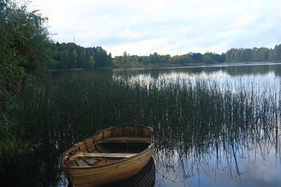 Birini, Letonia: Lake in front of the Castle