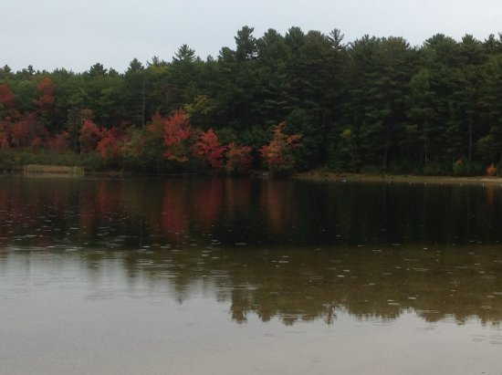 Greenfield, NH: Fall colors by the lake