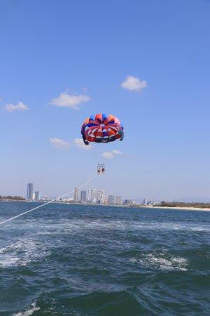 Main Beach, Australia: Enjoy the amazing scenery while parasailing at Gold Coast Watersports