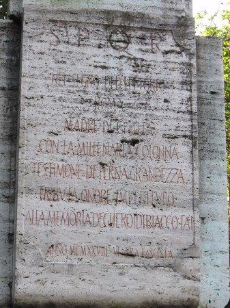 Byakkotai's Tomb: ローマ市寄贈の碑