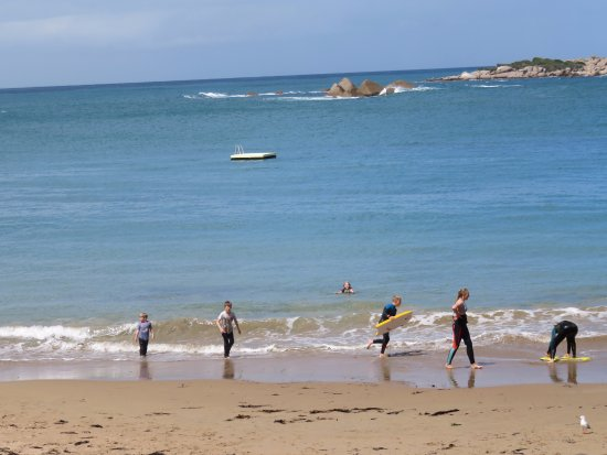 Port Elliot, Avustralya: Watching beach activities from the Cafe