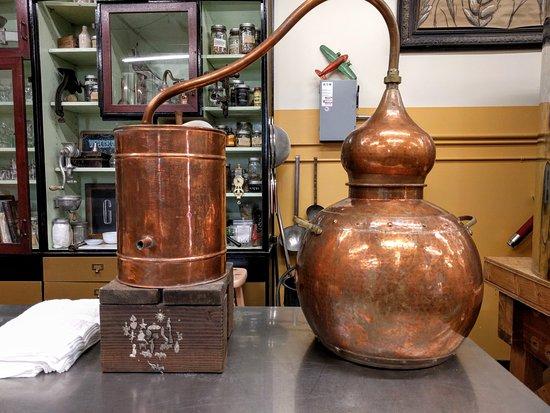 Copper still. Blackfish Distillery. Auburn, WA