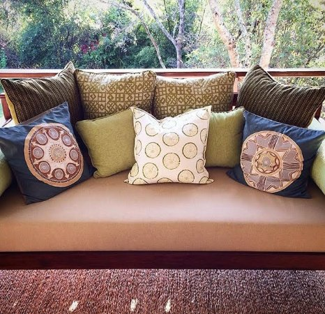 Harare, Zimbabwe: Kiki's teak daybed - a lifetime piece of veranda furniture