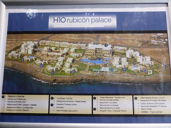 Hotel Map Picture Of H10 Rubicon Palace Playa Blanca