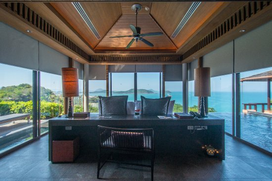 Sri Panwa Phuket Luxury Pool Villa Hotel: View from Bedroom of 2BR Luxury Pool Villa Ocean View