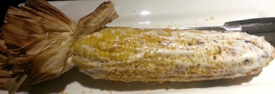 fire grilled corn on the cot