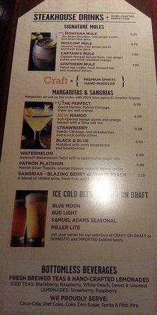 สโกกี, อิลลินอยส์: drink page of menu