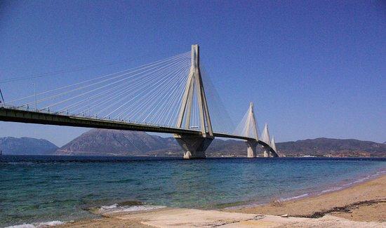 Antirrio, اليونان: Most Rion – Antirion od strony Peloponezu