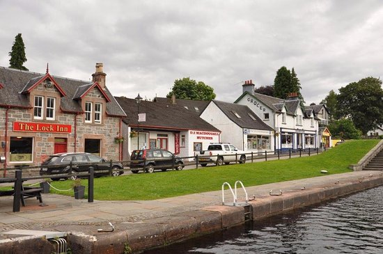 Fort Augustus, UK: building along the canal