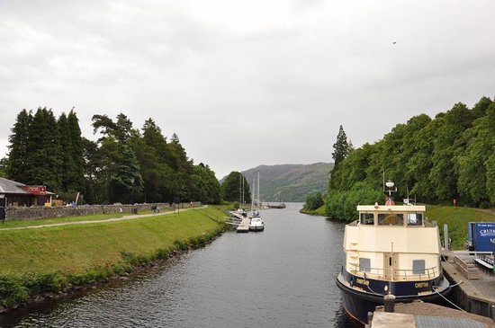 Fort Augustus, UK: the canal