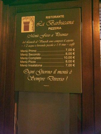 Leini, Italy: Menù fisso a pranzo