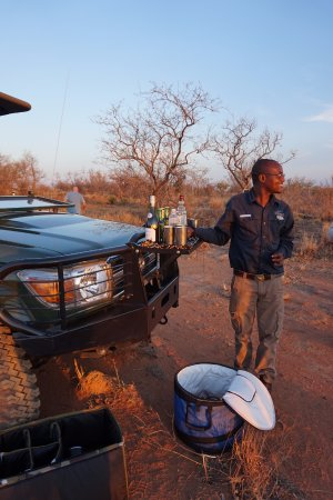 Welgevonden Game Reserve, South Africa: Sundowners in the bush