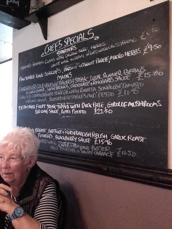 Bridgwater, UK: Pub special board