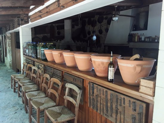 Asteri, Grecia: Outside bar area - when not in use.