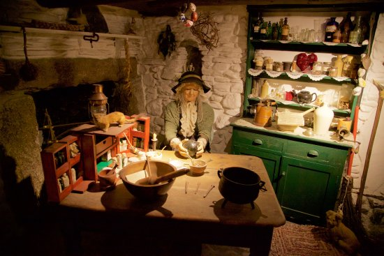 Boscastle, UK: Wise woman exhibit with spoken word