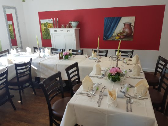 """Bad Bevensen, Germany: Unser """"Clubraum"""" ist für kleine Familienfeiern gut geeignet."""