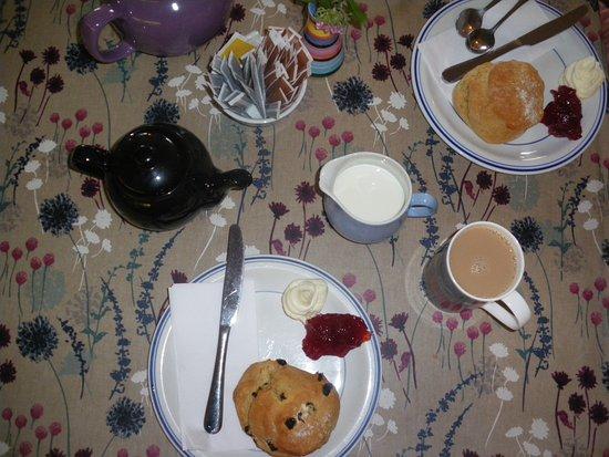 Crinan, UK: Our cream tea on arrival.